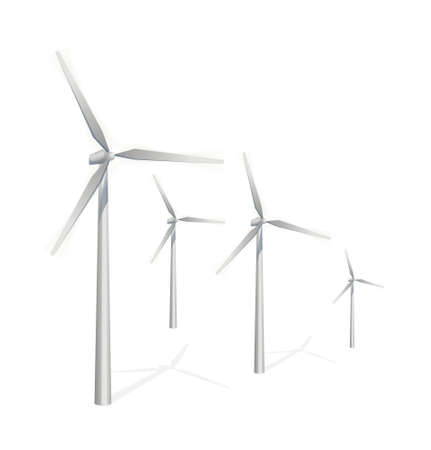 icon wind power generation Stock Vector - 15997295