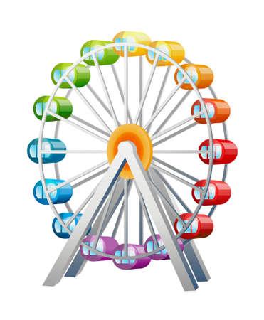 amusement park rides: icon ferris wheel
