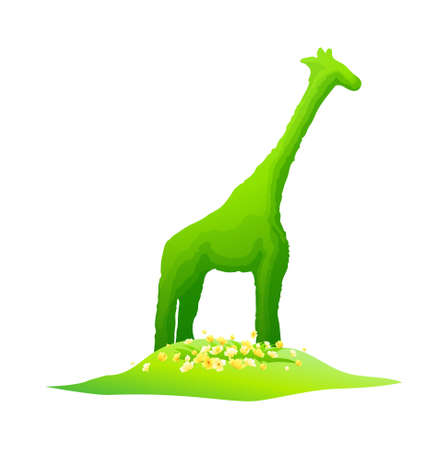 icon giraffe shape plant Vector