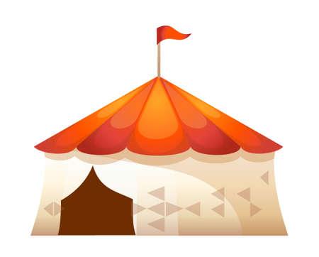 amusement park rides: icon tent of amusement park
