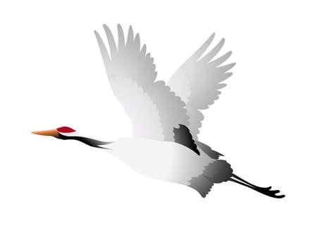vinçler: simge kuş vinç Çizim