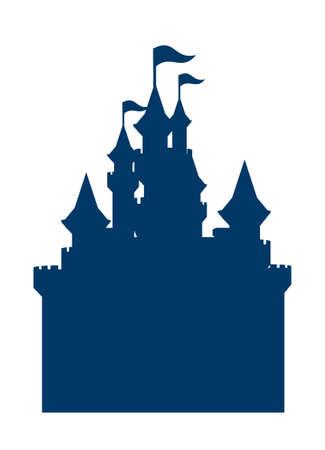 castle silhouette: icon castle silhouette