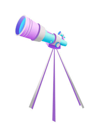 icon telescope Vector
