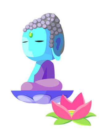 icon buddha Illustration