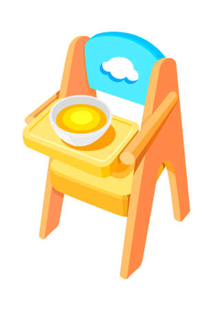 icon baby chair Vector