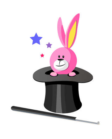 icon rabbit and magician hat Stock Vector - 15941632