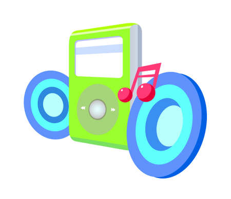 icon music player Stock Vector - 15895486