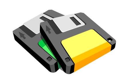 icon floppy disk Stock Vector - 15915363