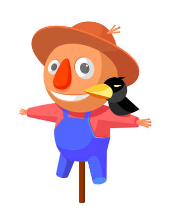 icon scarecrow Vector