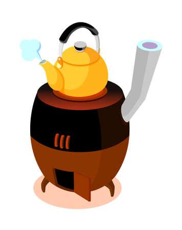 stovepipe: icon heater Illustration