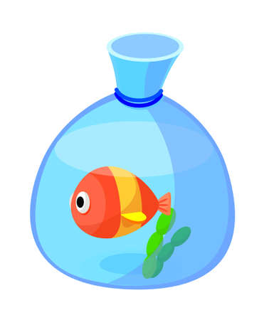 icon fish bowl Vector
