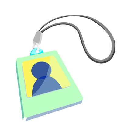 carta identit�: icona della carta d'identit� Vettoriali