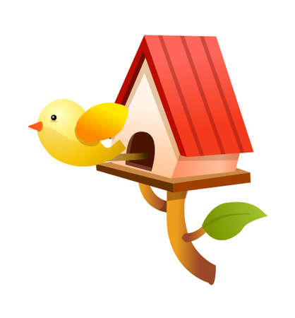 icon bird house Stock Vector - 15938997