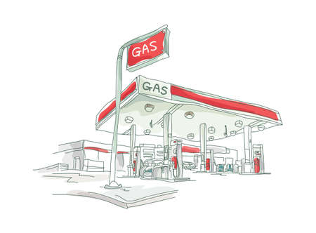 icon petrol station Vector