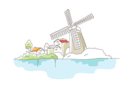 icon windmill Stock Vector - 15911335