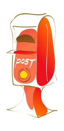 icon postbox Stock Vector - 15962587