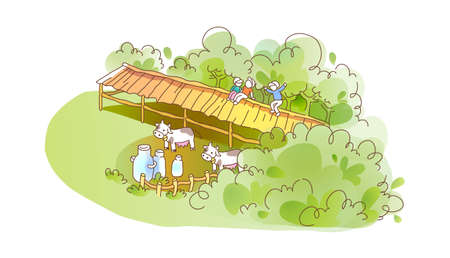 icon farm Stock Vector - 16014774