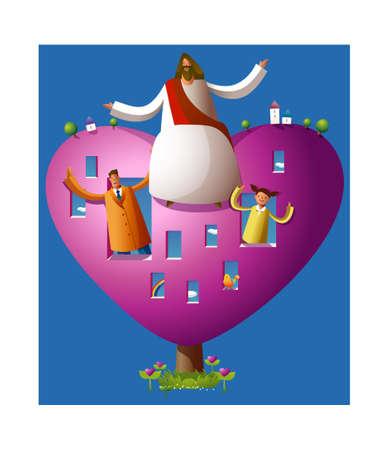 messiah: icona del cuore Vettoriali