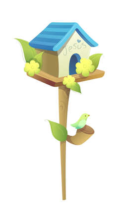 icon birdhouse Stock Vector - 16014918