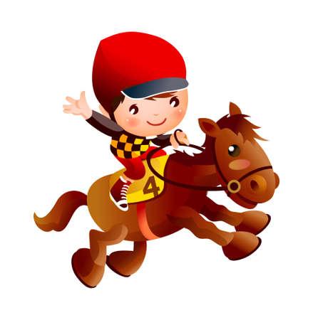 jockey: vector icono Vectores