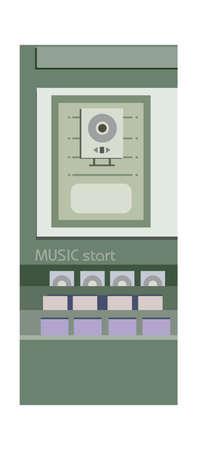 cd case: vector icono Vectores