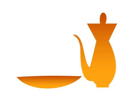 earthenware: icono del vector