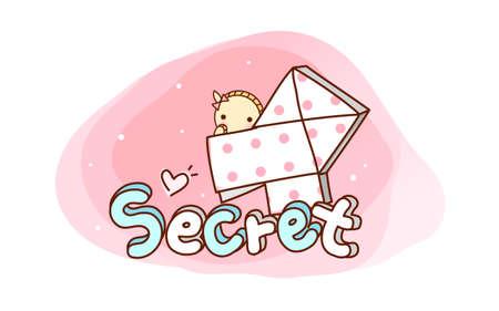 secret love: vector icono Vectores