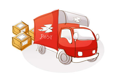 mail truck: Vector Icon