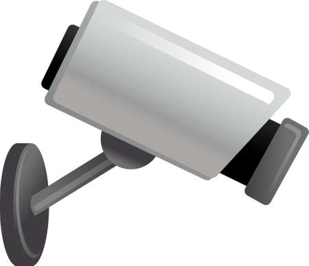 The view of surveillance camera Vector