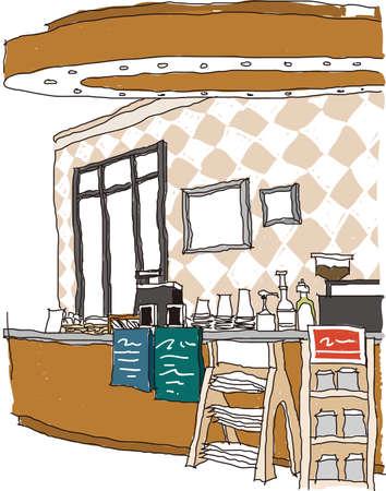 옥내의: 실내 카페의 전망?