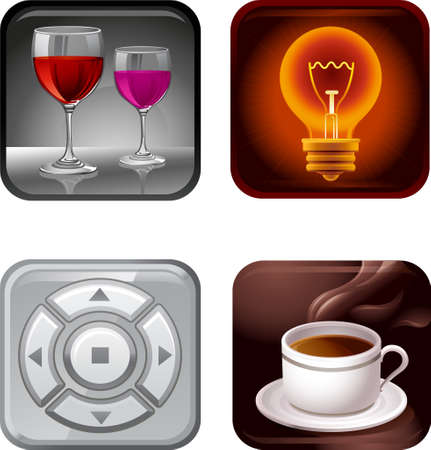 The view of icon set Vector