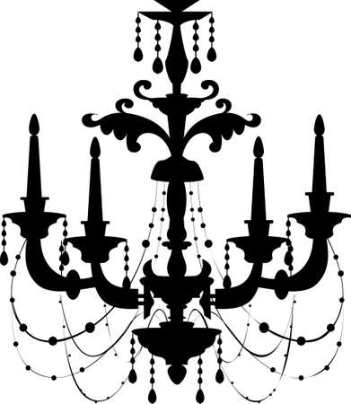 The view of chandelier Vector