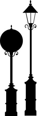 уличный фонарь: Вид фонаря Иллюстрация