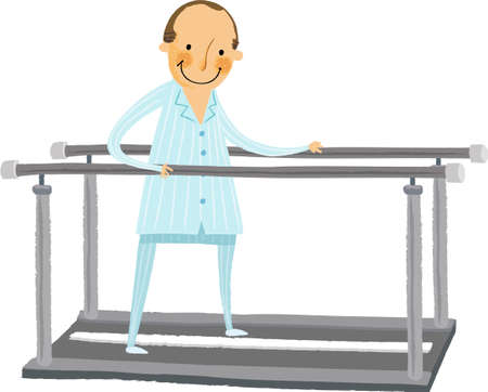 adaptive: The view of patient on the running machine