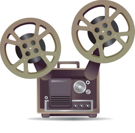 film projector: The view of film projector Illustration