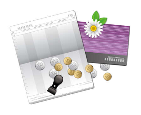 The view of bank book  Vector
