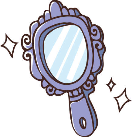 hand mirror: The view of hand mirror Illustration