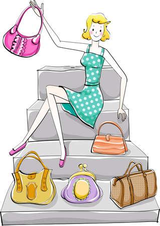 stair: La vista de la mujer en la escalera