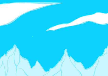 mountain view: The view of mountain