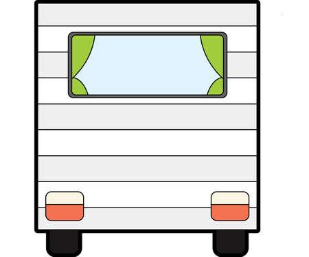 The view of caravan Vector