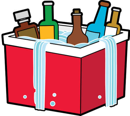 The view of bottle in the ice box Vector