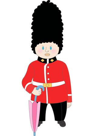 royal guard: The view of palace guard
