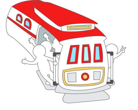 streetcar: La vista del tranv�a Vectores