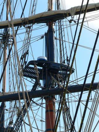 bounty: Main mast of HMS Bounty Replica