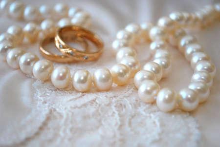perlas: Anillos y perlas