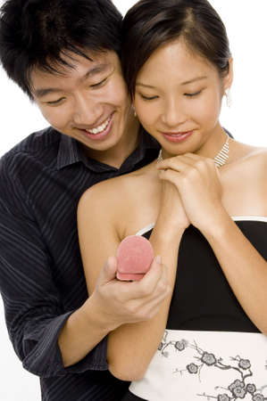 touched: A man surprises his girlfriend with a jewelry gift