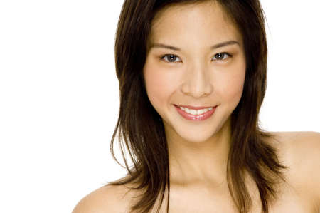 A portrait of a beautiful young asian woman Stock Photo - 495640