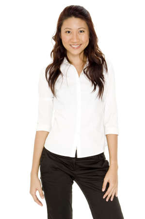 A pretty asian woman in smart business clothing