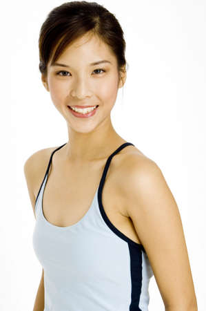 A pretty young asian woman with great smile