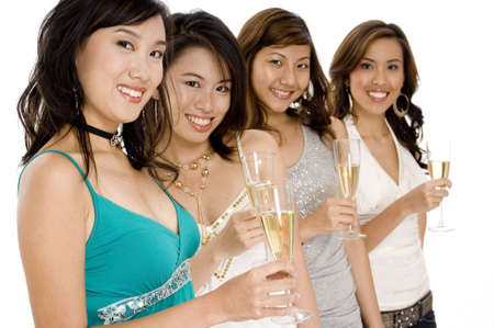 A group of friends enjoying a glass of champagne Stock Photo - 502515